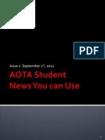 AOTA Student Newsletter Issue 1