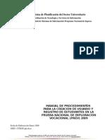 Manual Procedimientos Registro Pnev 2009