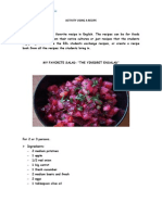 Project Activity Using a Recipe