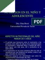 Alimentación del Niño y Adolescente