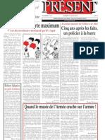 Présent (quotidien) n° 7633
