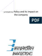 Dividend Policy and Its Impact on the Value
