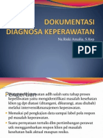DOKUMENTASI DIAGNOSA KEPERAWATAN