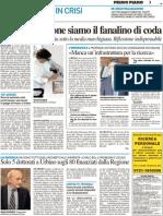 Solo 5 dottorati a Urbino sugli 80 finanziati dalla Regione - Il Resto del Carlino del 19 settembre 2012