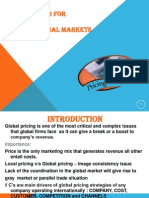 Pricing for International Marketing
