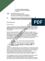 CBCP-NASSA's Letter-Complaint - Social Justice