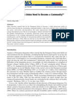 Does the European Union Need to Become a Community?  (Tobias Theiler)