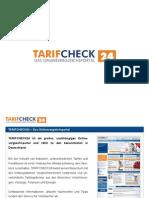TARIFCHECK24.com - Das Onlinevergleichsportal