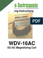 WDV-16AC DC/AC Magnetizing Coil