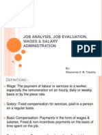 5.Job Analysis, Job Evaluation, Wages & Salary Administration- By Sibanand s. Tripathy