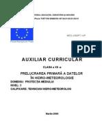 Prelucrarea Primara a Datelor in Hidro-meteorologie