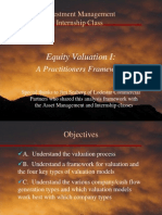 Valuation  - A Practitioners Approach 10Mar10