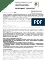 Questionario - DESENVOLVIMENTO SUSTENTAVEL