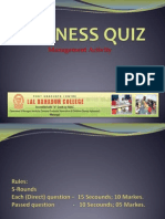 Business Quiz Mba-mcom