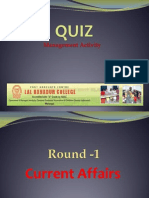 General Quiz for MBA-MCOM