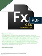 Flex3CSS Property List