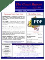 5D Final August 2012 Court Report
