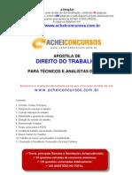 Apostila de Direito do Trabalho para Analistas e Técnicos de TRTs