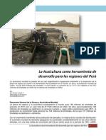 La Acuicultura Como Herramienta de Desarrollo para el Perú