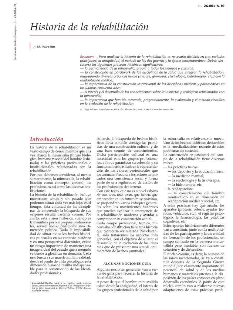1.- Historia de La Rehabilitacion