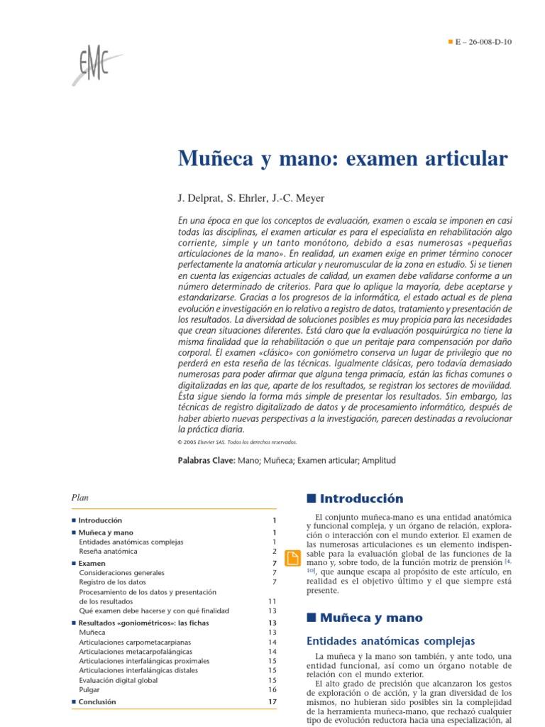 04.- Muñeca y mano examen articular
