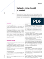 Exploracion Clinica Elemental en Podologia