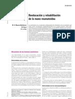 Reeducacion y Rehabilitacion de La Mano Reumatoidea