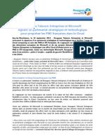 Bouygues Telecom Entreprises et Microsoft signent un partenariat stratégique et technologique pour propulser les PME françaises dans le Cloud