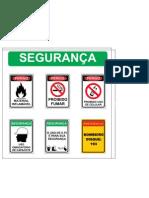 Placa de segurança carregamento de alcool