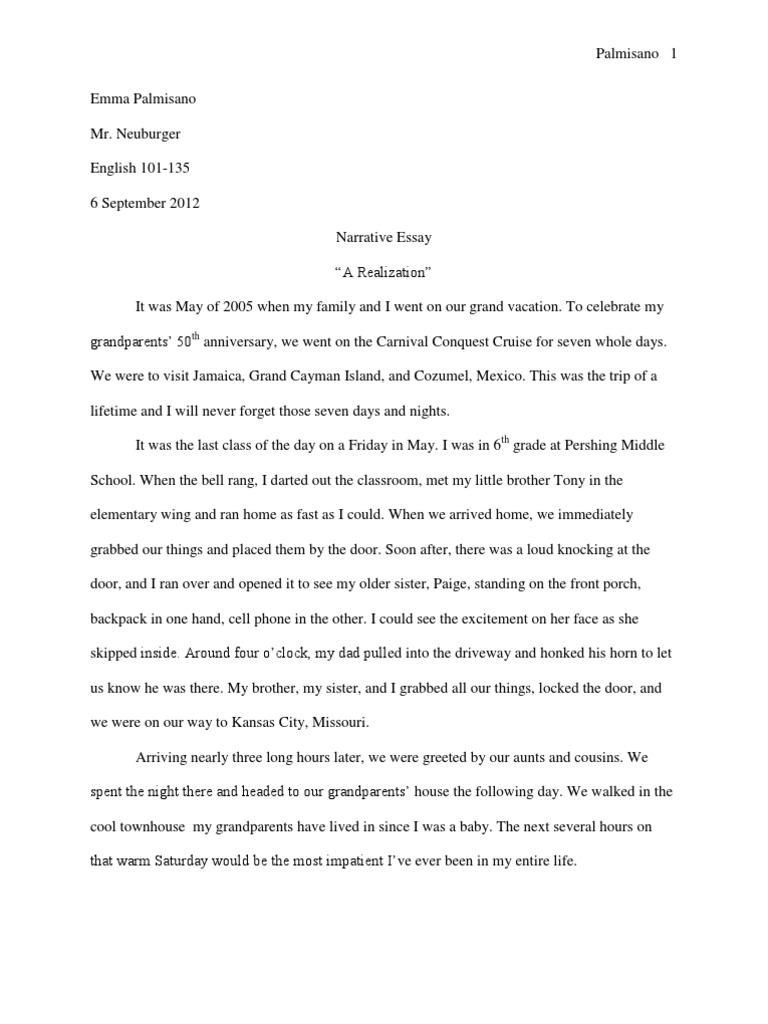 narrative essay leisure