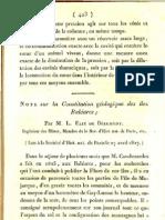 Note sur la constitution geólogique des îles Baléares