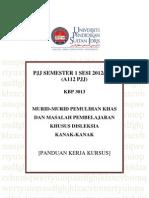 Panduan Kerja Kursus Kbp 3013