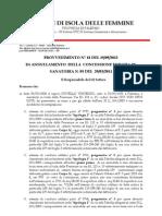 Licenza Edilizia 5 2011 Crivello Vincenzo Annulata Albo n. 405.12 Provv n.18 - Decad Ces 05.11