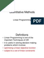 17 Linear Programming