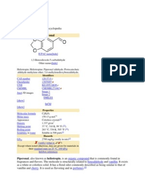 Piperonal   Chemical Substances   Chemical Compounds