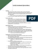 Class III Cavity Treatment (Procedure, Materials)