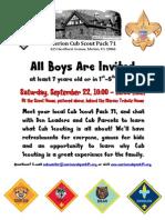 Cub Scout recruitment
