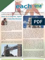 Outreach Newsletter Fall 2012