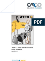 Pneumatic Chain Hoists - Yale Atex Catalog - Cosmo Petra - Safe Lifting Solutions