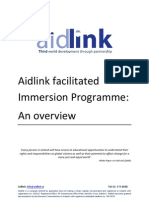 Aidlink Facilitated Immersion Programme