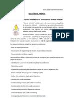 Comunicado 8 Nuevas Miradas Dossier
