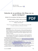 Soluci´on de un problema Job Shop con un agente inteligente1