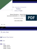 23 - Python, Listas y Arreglos