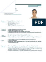 Curriculum Mary Luisa