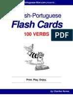 English-Portuguese Flash Cards - 100 Verbs