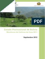 Monitoreo de Cultivos de Coca 2011 - Bolivia