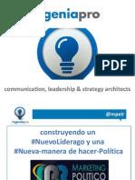Construyendo un Nuevo Liderazgo u una Nueva Manera de hacer política Aleix Cuberes