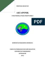 Proposal Ristek Akuponik Untuk Dekanat