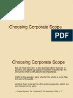 Choosing Corporate Scope 1