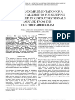 Design and Implementation of a Detection Algorithm for Sleeping Apnea Based in Respiratory Signals Derived From the Electrocardiogram